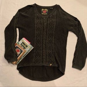 Superdry high low cold shoulder sweater